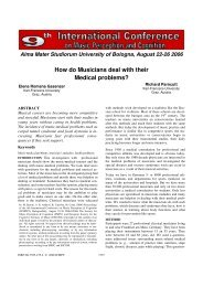 How do Musicians deal with their Medical ... - Prof. Marco Costa