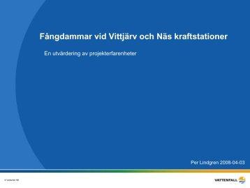 Per Lindgren Vattenfall Power Consultants - Bergforsk