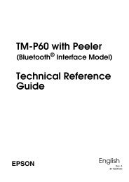 TM-P60 with Peeler Technical Reference Guide - Epson POS Printers
