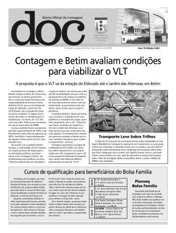 Diário Oficial Nº 2482 - Prefeitura de Contagem