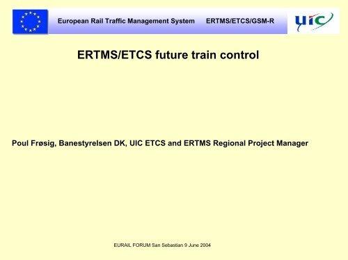 ERTMS/ETCS future train control