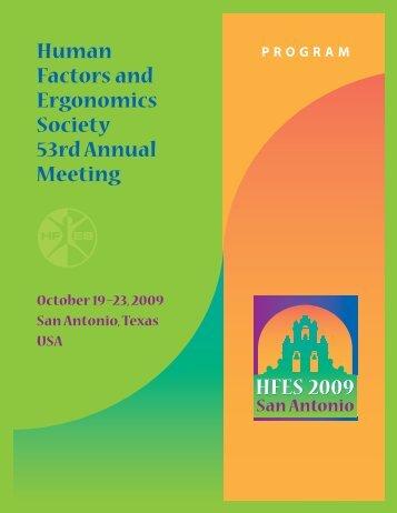 09 HFES AM Program,r7.qxd - Human Factors and Ergonomics ...