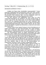 Sonntag, 7. März 201 0 3. Fastensonntag ( Ev ... - Pfarre Wieselburg