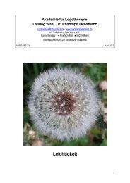 LOGO-News Juni 2012 - Akademie für Logotherapie und ...