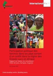 Participation politique des femmes dans les pays ... - International Alert