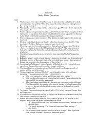 Macbeth Study Guide Questions