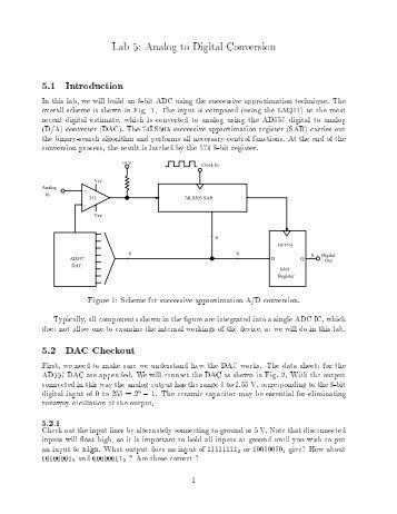 Lab 5: Analog to Digital Conversion 5.1 Introduction 5.2 DAC ...