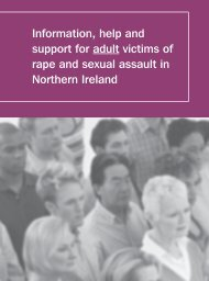 Information Handbook for Adult Victims of Rape and Sexual Assault