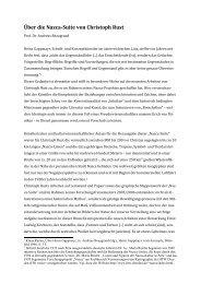 Über die Nazca-Suite von Christoph Rust