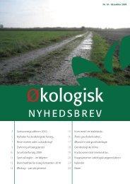 NYHEDSBREV - Økologisk Rådgivning