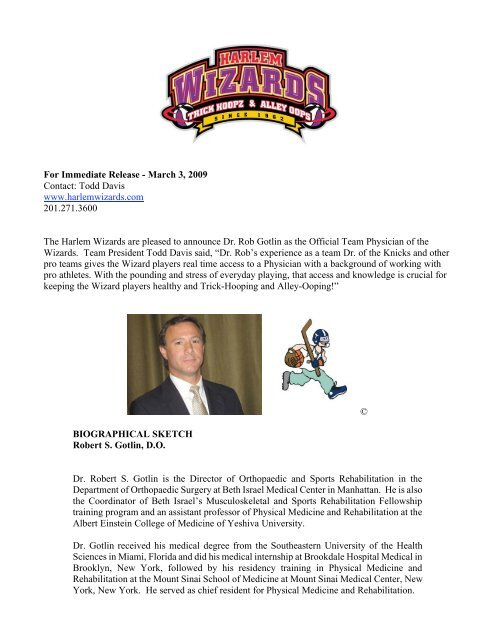 For Immediate Release - March 3, 2009 Contact     - Harlem
