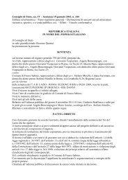 Consiglio di Stato, sez. IV – Sentenza 19 gennaio 2012 ... - Ediltecnico