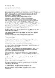 Newsletter Mai 2009