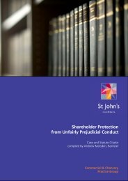 Shareholder Protection 2012 Edition - St John's Chambers