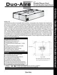 CW-III Double Plenum Short Circuit Wall Hood - Duo-Aire - Page 5