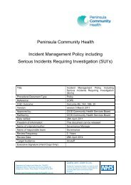 Incident Management Policy Including Serious Incidents Requiring ...