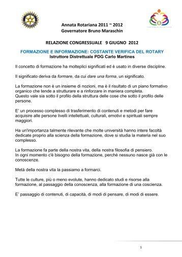 Martines FORMAZIONE E INFORMAZIONE - Rotary International ...