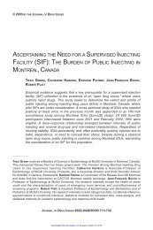 the burden of public injecting in montreal, canada - Journal of Drug ...