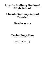 L-S Technology Plan 2010-2013(pdf) - Lincoln-Sudbury Regional ...
