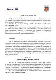 PORTARIA Nº 267/2010 – DG O Diretor Geral do ... - Detran