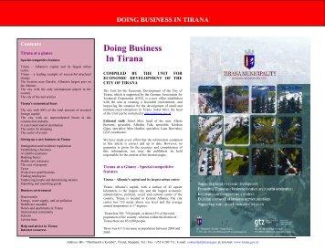 Doing Business In Tirana