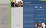 Degrees - Physics - University of Nevada, Reno