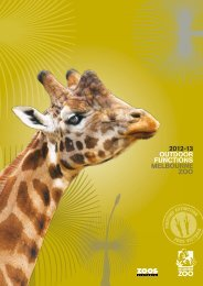 2012-13 OUTDOOR FUNCTIONS MELBOURNE ZOO - Zoos Victoria