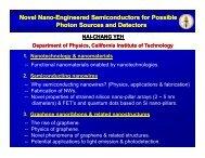 Novel Nano Novel Nano-Engineered Semiconductors for ... - Caltech