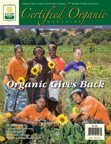 Organic Gives Back - CCOF