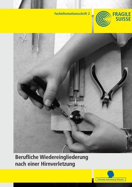 Berufliche Wiedereingliederung nach einer ... - Fragile Suisse