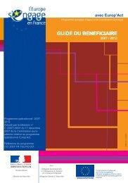 guide du bénéficiaire - Europe en France, le portail des Fonds ...