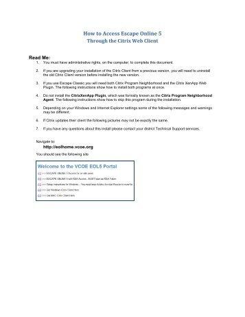 How to Access Escape Online 5 - the Escape Online 5 Portal