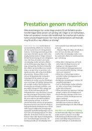 Prestation genom nutrition (2011) - GIH