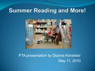 Summer Reading and More! - Kenny School!