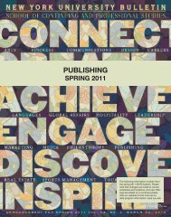 PUBLISHING - School of Continuing and Professional Studies - New ...