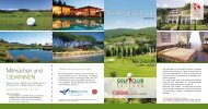 zum TwoWings Golf Cup Flyer - Cordial Hotels
