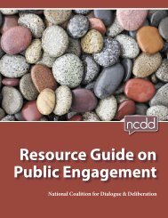 Resource Guide on Public Engagement - National Coalition for ...