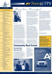 FromOur Principal... Community Real Estate - The Peninsula School
