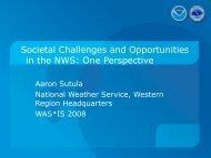 NWS Western Region - Societal Impacts Program