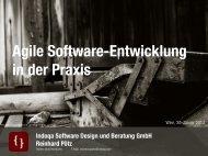 Agile Software Entwicklung Praxisbericht, Reinhard Pötz - ZIT