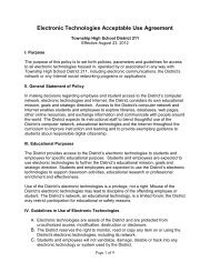 Electronic Technologies Acceptable Use Agreement - Schaumburg ...