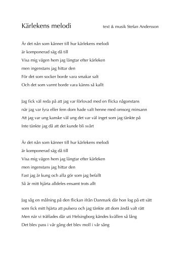 Kärlekens melodi - Stefan Andersson