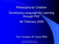 Philosophy for Children Developing Language for ... - eRiding