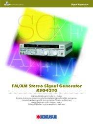 FM/AM Stereo Signal Generator KSG4310 - Kikusui Electronics Corp.