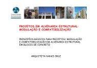 PROJETOS EM ALVENARIA ESTRUTURAL: MODULAÇÃO E ...
