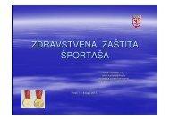 zdravstvena zaštita sportaša - Hrvatski Olimpijski Odbor