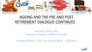 ageing and the pre and post retirement dialogue continues