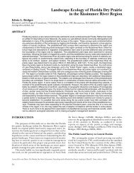 Landscape Ecology of Florida Dry Prairie in the Kissimmee River ...