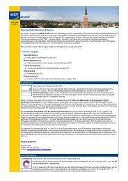 WSP aktuell, Ausgabe Januar 2011 - Wirtschaft und Stadtmarketing ...