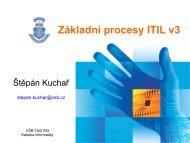 Základní procesy ITIL v3 - Katedra informatiky FEI VŠB-TUO